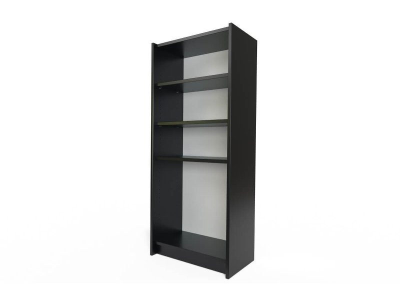 Étagère bibliothèque bois noir ETABIB-N