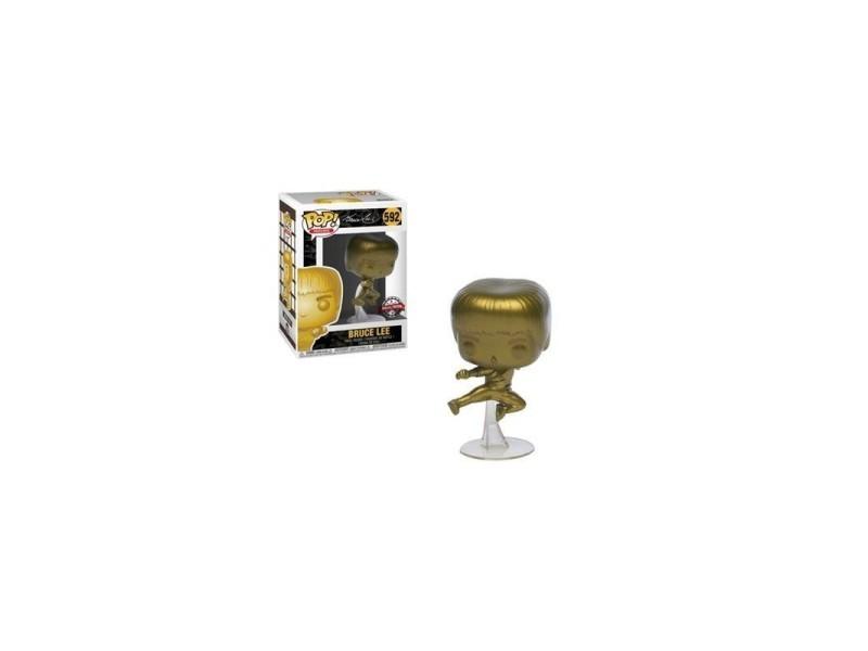 Figurine Bruce Lee Exclusive Pop 10cm GOLD Game of Death Bruce Lee Kicking