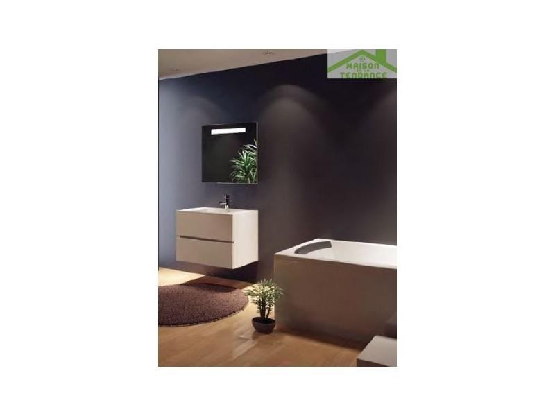 Ensemble meuble & lavabo riho cambio comodo set 07 80x46x h 57 cm - bois laqué brillant FCO080Z01DDDS07