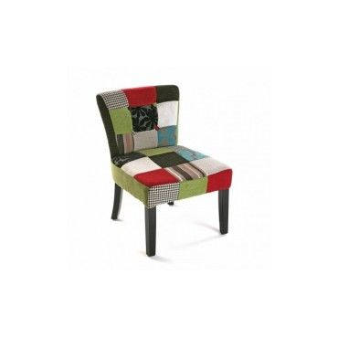 fauteuil patchwork en tissu multicolore patchw vente de. Black Bedroom Furniture Sets. Home Design Ideas