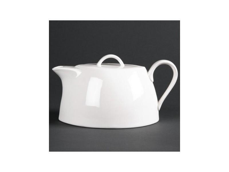 Théières, cafetières ovales 850 ml lumina - lot de 2 - 0 cm porcelaine 85 cl