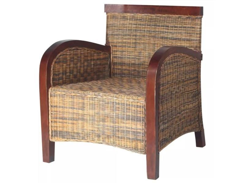 vidaxl fauteuil rotin tiss la main 242025 vente de vidaxl conforama. Black Bedroom Furniture Sets. Home Design Ideas