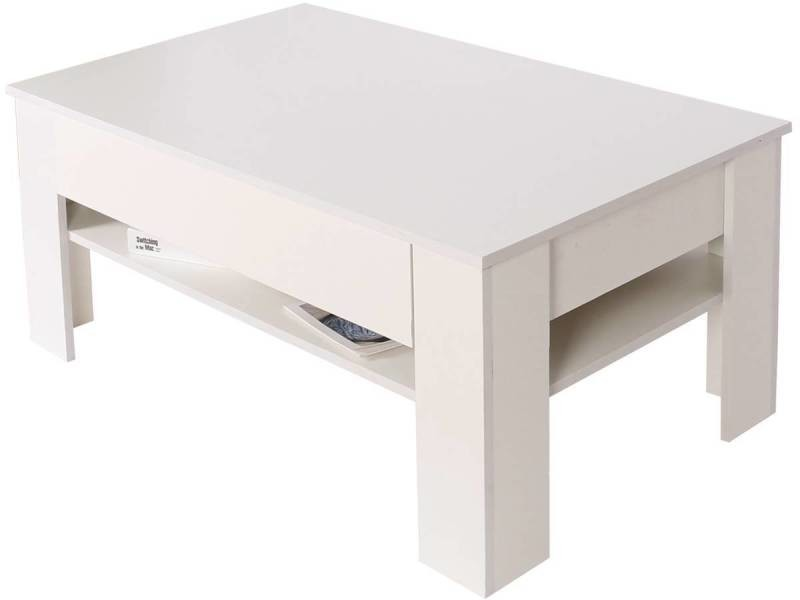 Table basse tiroir rectangulaire \