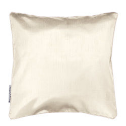 Housse de coussin polyester shantung uni shana naturel 40 x 40 cm