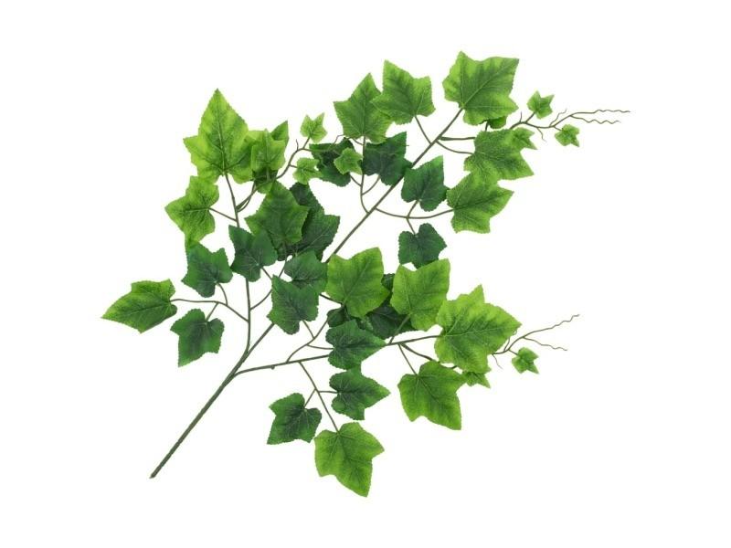 Vidaxl 10 pcs feuilles artificielles de raisin vert 70 cm 280124
