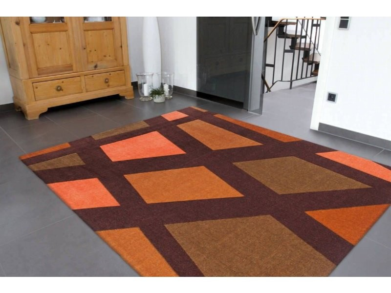 Tapis style de 32 marron orange JXGM7-120-170-E - Vente de ...