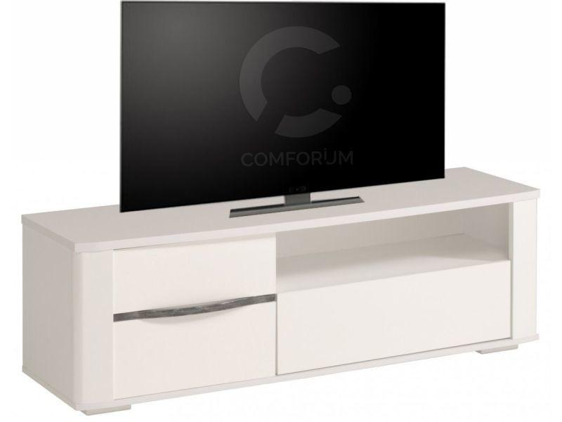 Meuble Tv Blanc Brillant Ultra Design P 6254 Co Ceramo Vente De