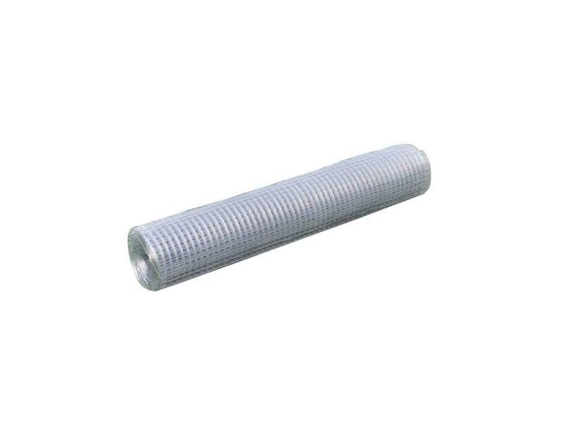 Vidaxl grillage pour volière acier galvanisé 25 x 1 m argenté 140432