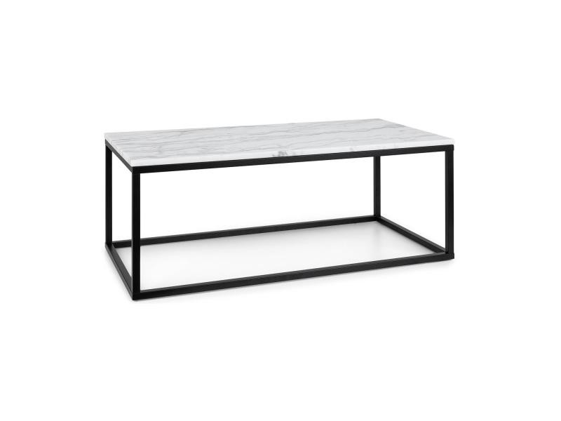 Besoa volos t100 table basse pour intérieur & extérieur - 100x40x50 cm - plateau marbre noir & blanc GDMC1-Volos T100