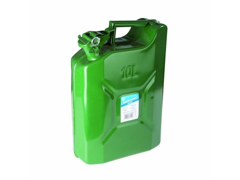 Bidon / jerrican de 10 litres en métal essence gazoil moto voiture quad bateau outils atelier bricolage helloshop26 3417020
