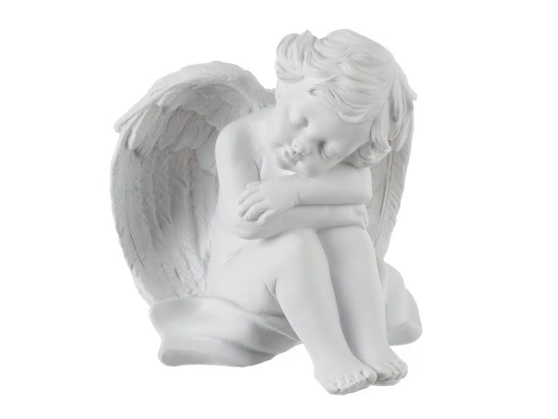 Statuette ange assis \