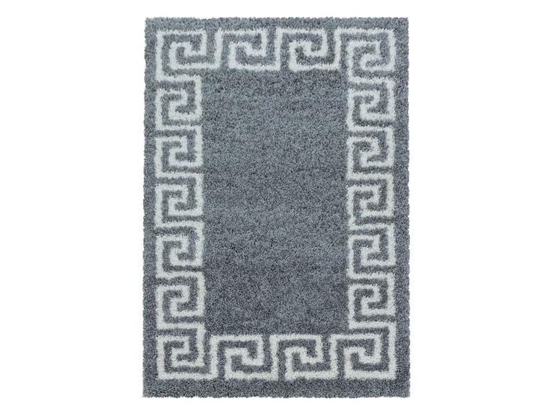 Bobochic tapis shaggy sina gris 160x230