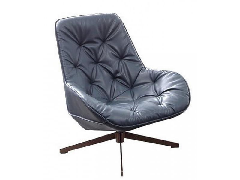 Trek - fauteuil moderne aspect cuir gris
