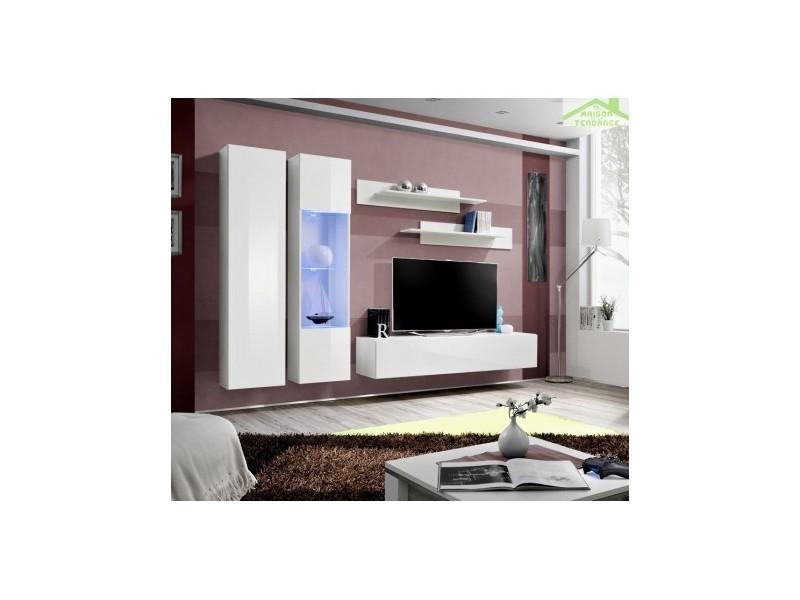 ensemble meuble tv suspendre fly a avec led 260x190x40 cm 23 ww fy a5 vente de asm conforama. Black Bedroom Furniture Sets. Home Design Ideas