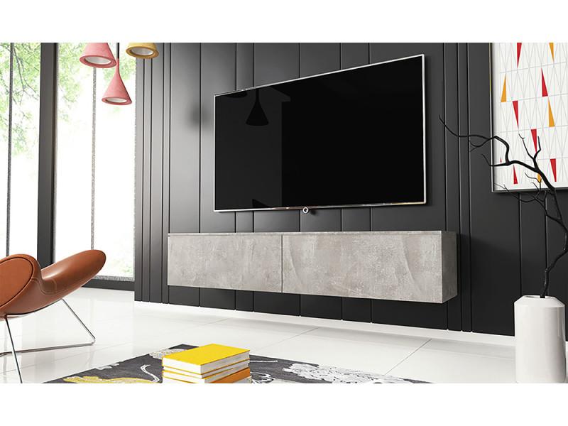 Meuble tv - KANE - 140 cm - béton