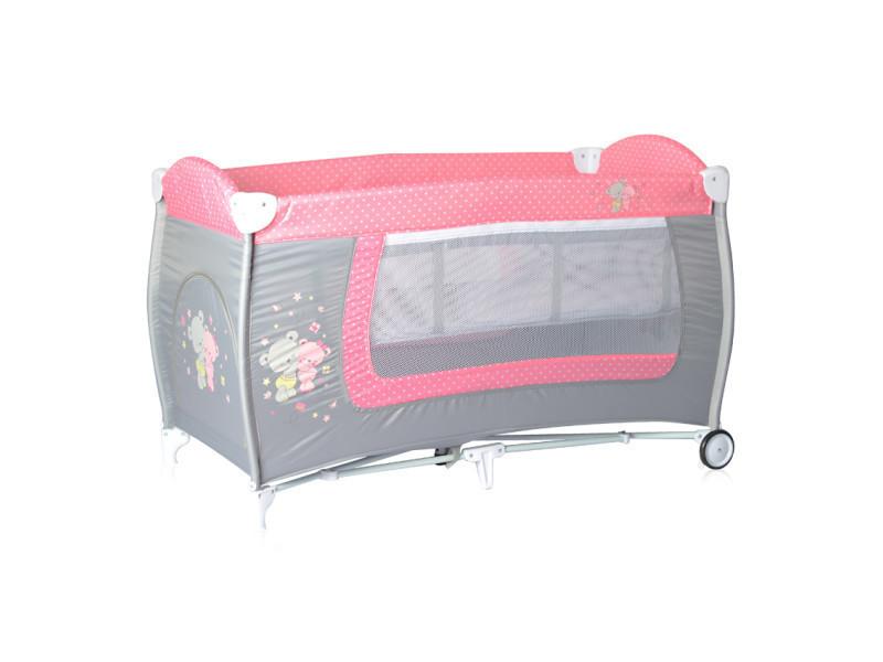 Lit parapluie bébé lit pliant à 2 niveaux danny 2 rose lorelli 10080361817 vente de lorelli conforama