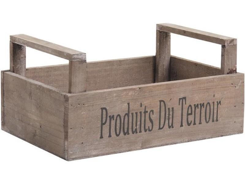 Caisse récolte produits du terroir