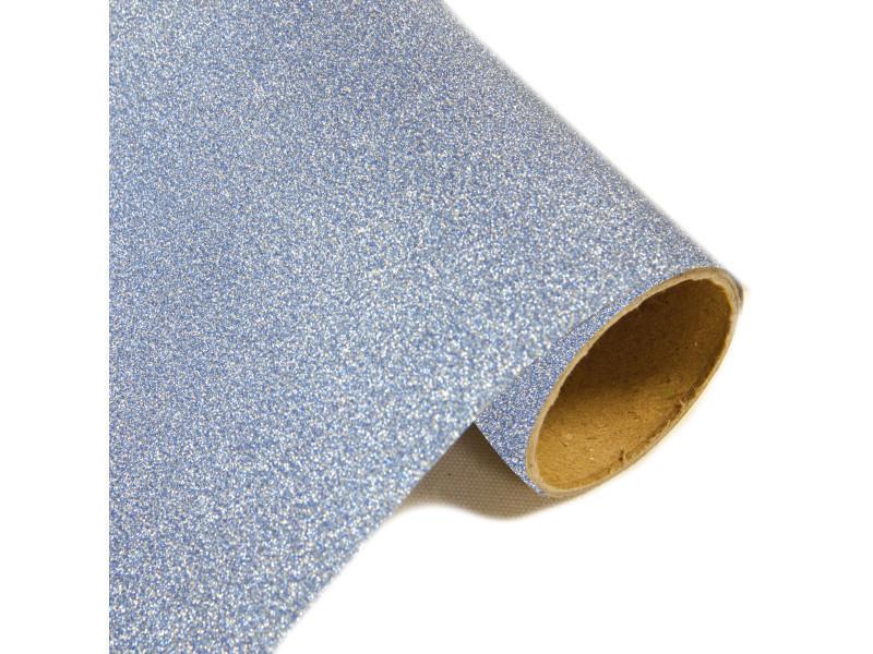 Lot de 10 rouleaux chemin de table effet en métal pailleté glacier - 28 cm x 5m