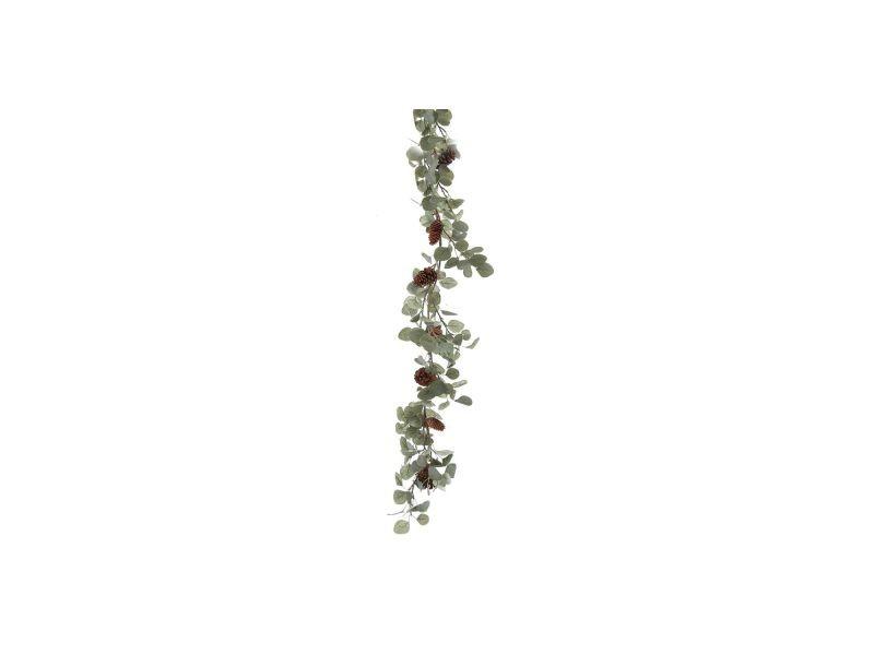 Guirlande de noël design eucalyptus et pin - l. 150 cm - vert