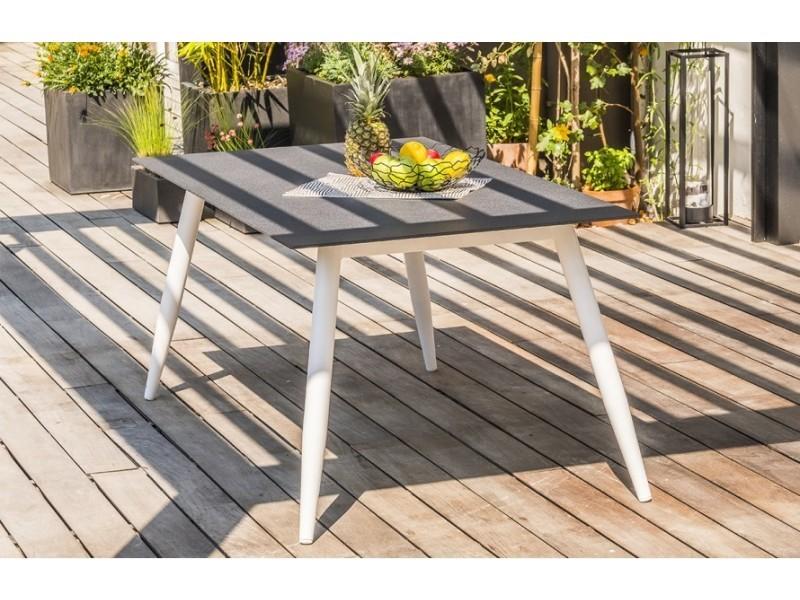 Table Jardin Scandi Blanc Et Plateau Beton Vente De House And