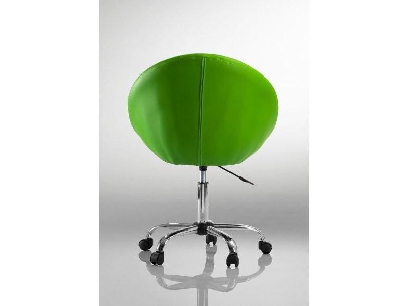 Fauteuil à roulette cuir pu tabouret chaise de bureau vert bur09033. Type  de suspension   Pas de réglage 6807d15b30da