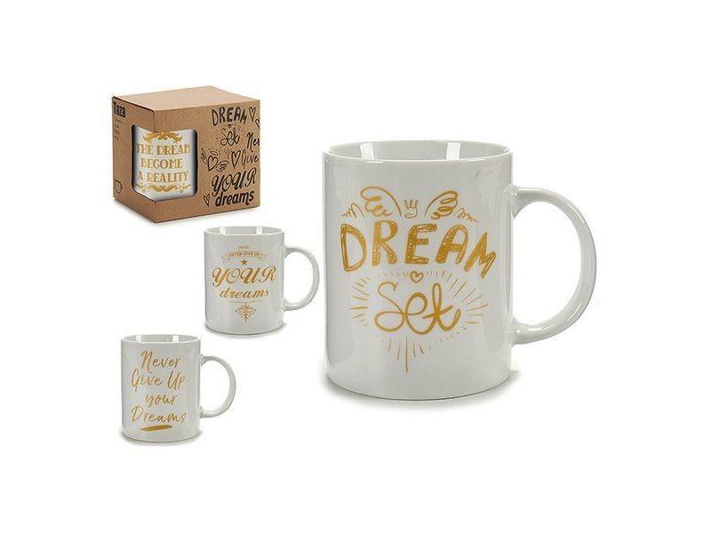 Tasses et thermos stylé tasse mug or (7 x 9,5 x 11 cm)