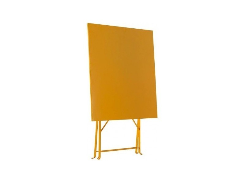 Table de jardin pliante camarque - 70 x 70 cm - orange - Vente de ...