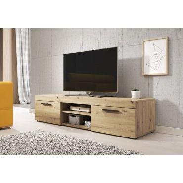 E Com Meuble Tv Paris 140 Cm Artisan Chene Tvu 8c201 140 Apo Vente De Meuble Tv Conforama