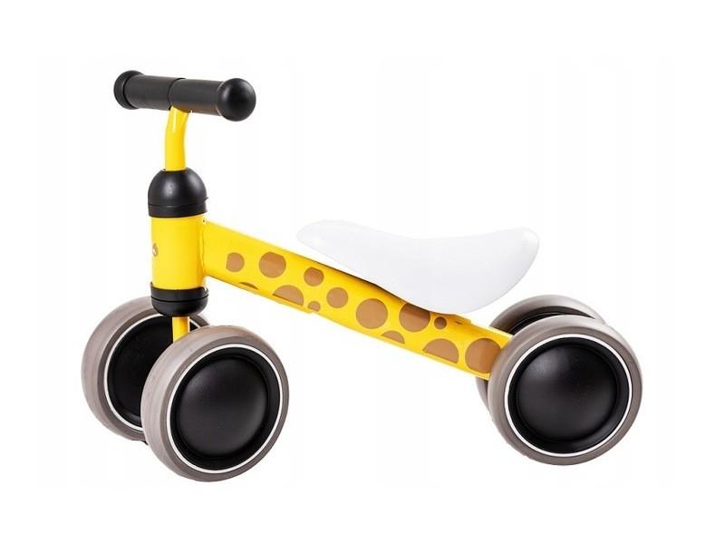 Okie - draisienne bébé enfant à partir 18 mois - ultra lègere 2kg - vélo sans pédales - ergonomique confortable selle/roues mousse - jaune/marron