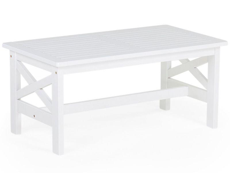 Table en bois d'acacia blanc baltic 90132