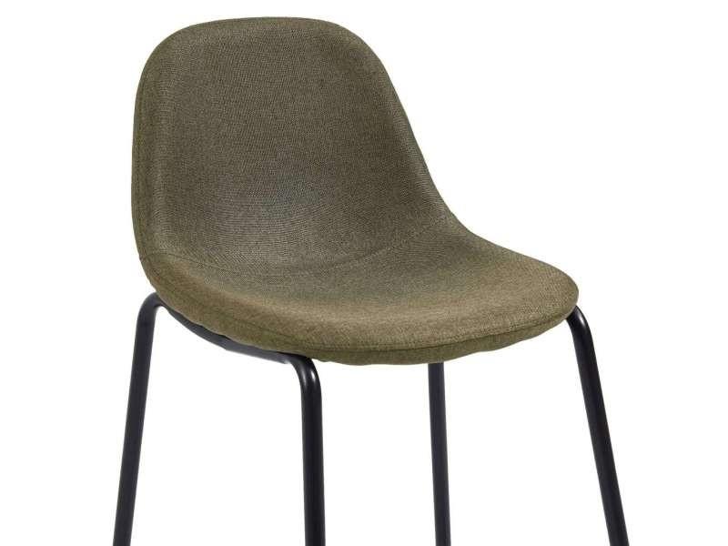 Vidaxl chaises de bar 2 pcs marron tissu 281529 Vente de