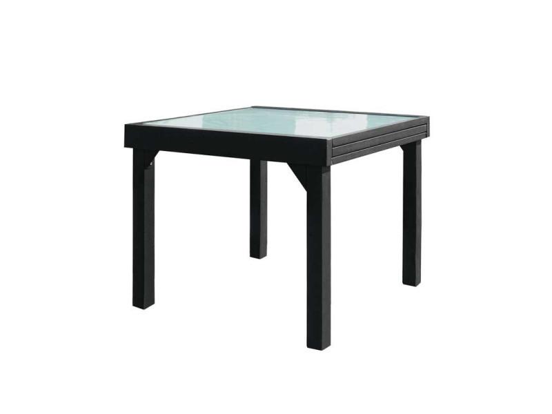 Gris Aiko De Repas Extensible Verrealuminium Table Carrée 180 L c5Rj3L4SAq
