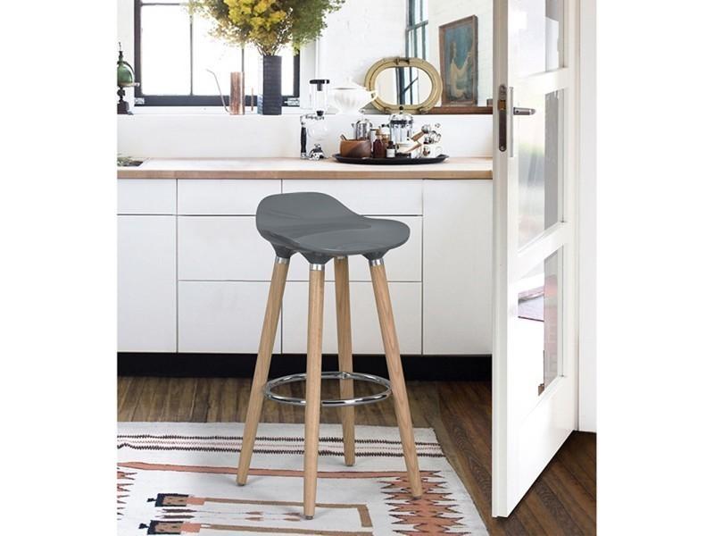 tabouret de bar oslo gris vente de ego design conforama. Black Bedroom Furniture Sets. Home Design Ideas