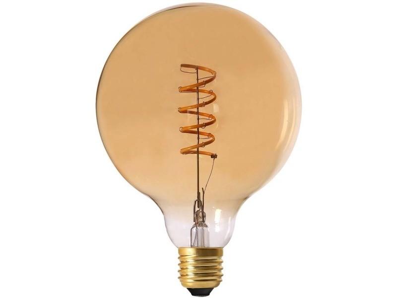 Ampoule ronde led spirale ambré 17 cm lot de 2