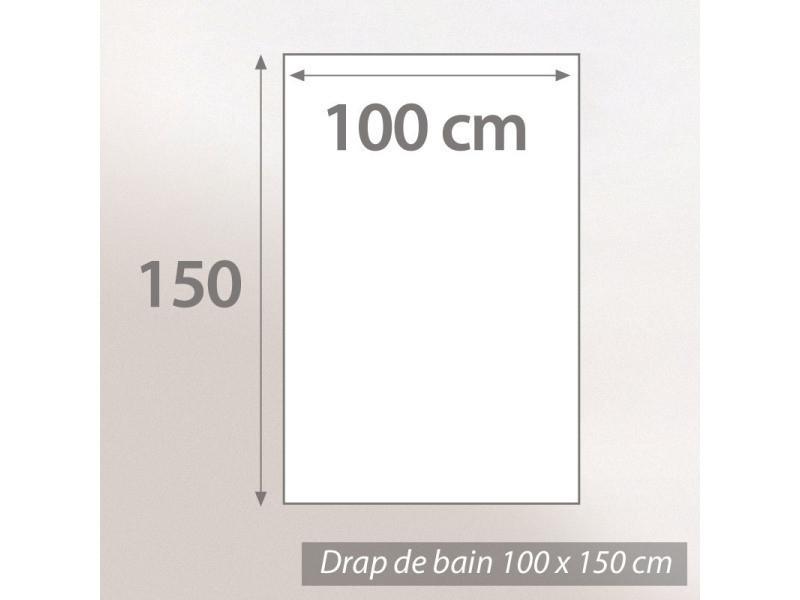 drap de bain 100x150 cm 100 coton 550 g m2 pure globo gris vente de linnea conforama. Black Bedroom Furniture Sets. Home Design Ideas