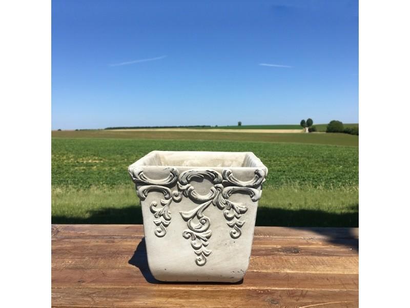 Pot cache pot jardinière jardiniere style ancien ancienne de charme 18 cm x 18 cm x 18 cm