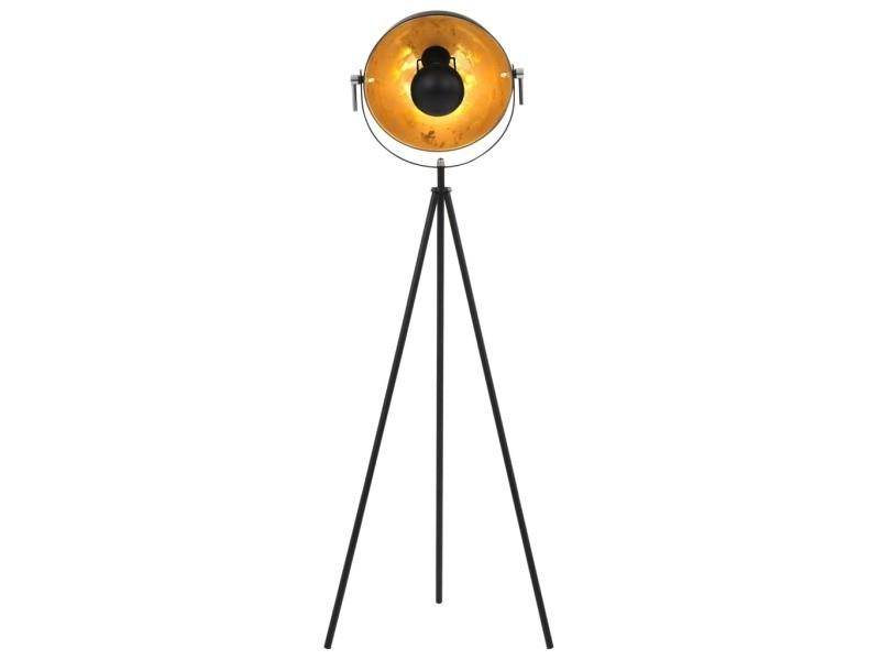 Icaverne - lampes selection lampadaire e27 noir et doré 31 cm