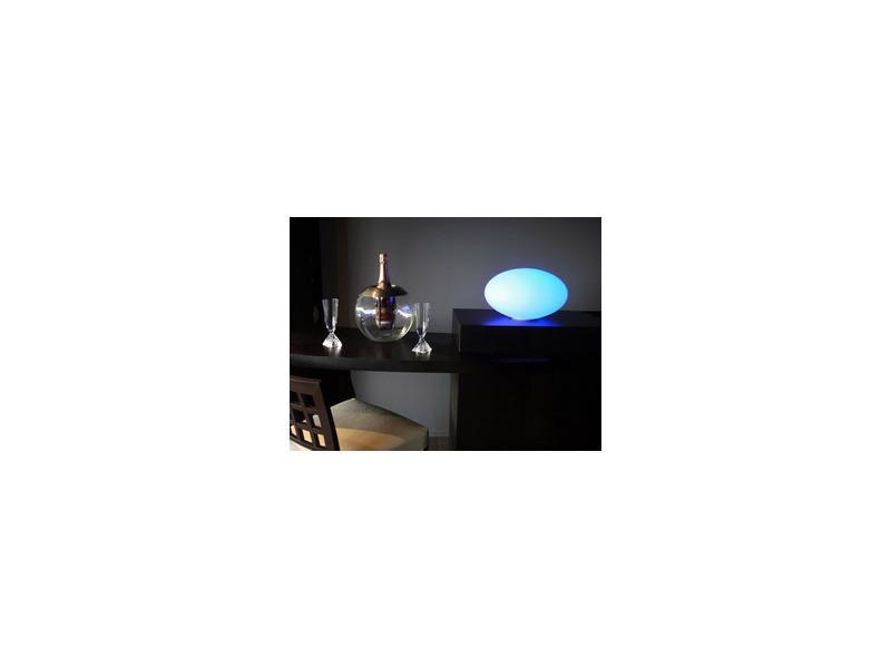 Galet lumineux 35cm socle vente de chapelu conforama for Galet lumineux exterieur