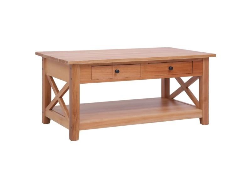 Inedit tables basses et tables d'appoint selection ankara table basse 100x55x46 cm bois d'acajou massif