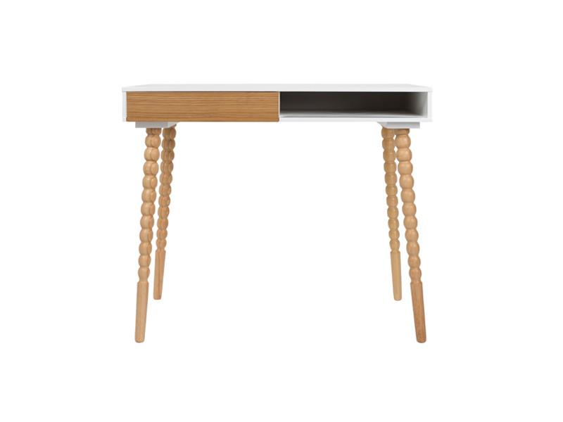 bureau scandinave bois et blanc twisted zuiver couleur. Black Bedroom Furniture Sets. Home Design Ideas