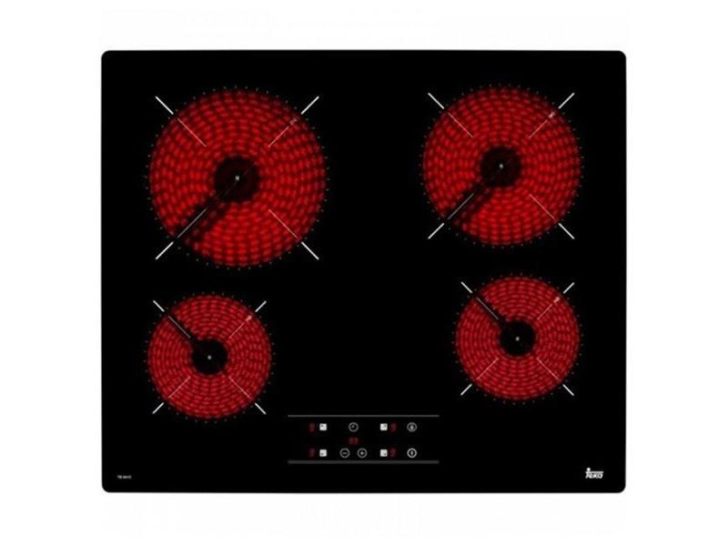 Plaques vitro céramiques à 4 foyers 6300w 60 cm noir - plaque de cuisson
