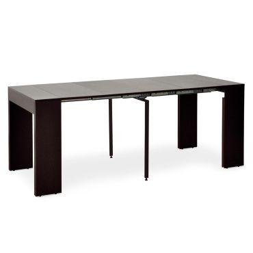 table extensible loic bois wenge conforama. Black Bedroom Furniture Sets. Home Design Ideas