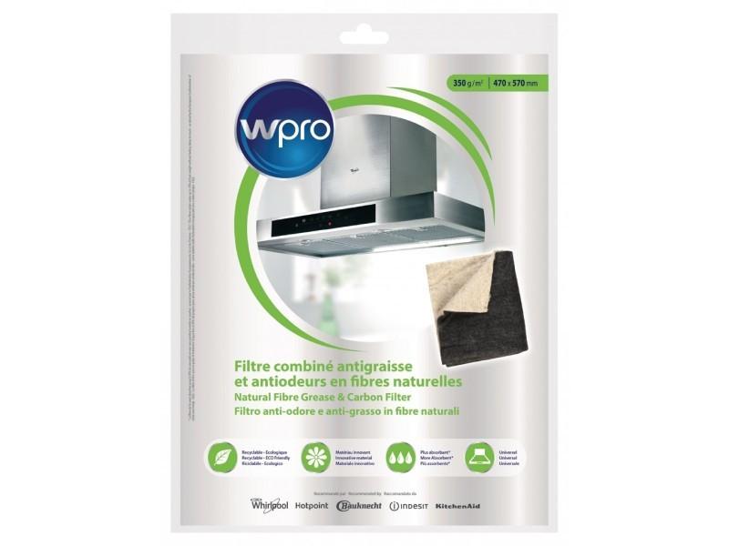 Wpro filtre de hotte à découper anti-graisses et odeurs 57 cm x 47 cm