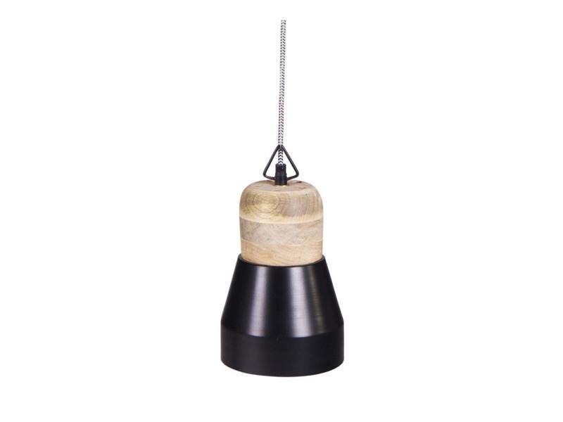 suspension luminaire bois m tal salt and pepper medium couleur noir 376001 b conforama. Black Bedroom Furniture Sets. Home Design Ideas