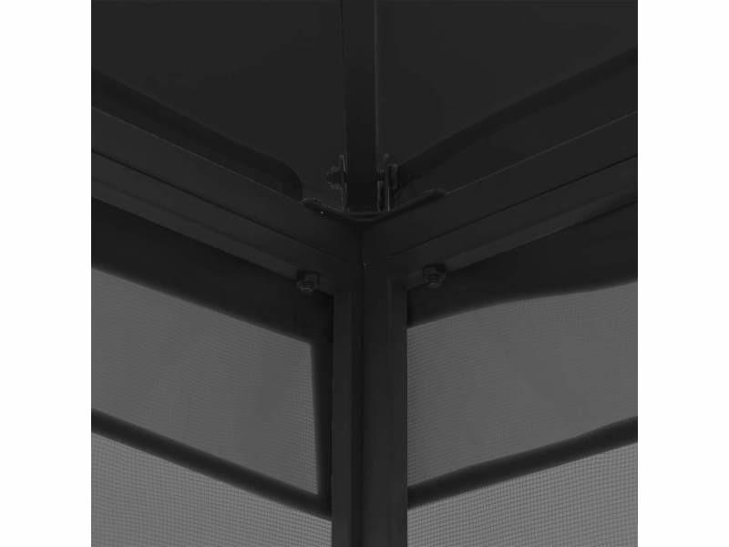 Icaverne - auvents et abris gamme tonnelle avec rideaux 300x400x265 cm anthracite