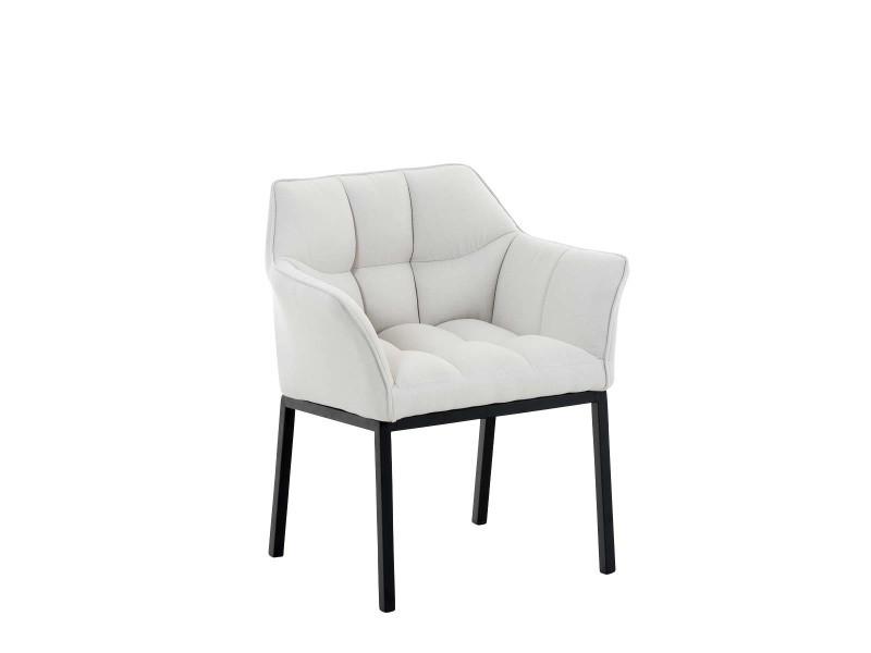 Chaise de salle à manger octavia tissu , blanc /noir