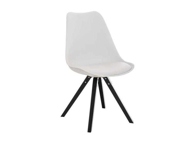 Chaise pegleg square , blanc /noir