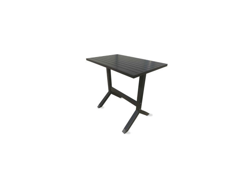 Table haute de jardin en aluminium