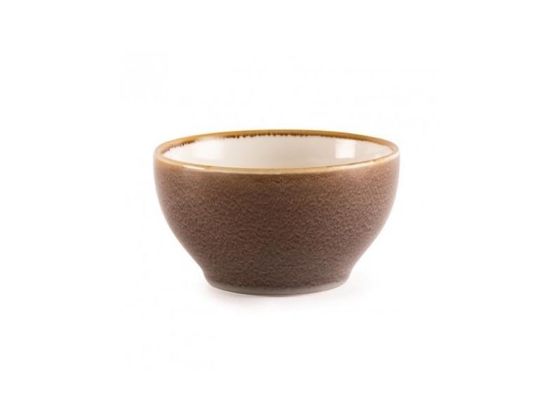Bol rond couleur écorce kiln olympia 140mm - lot de 6 - 14 cm porcelaine 63,5 cl