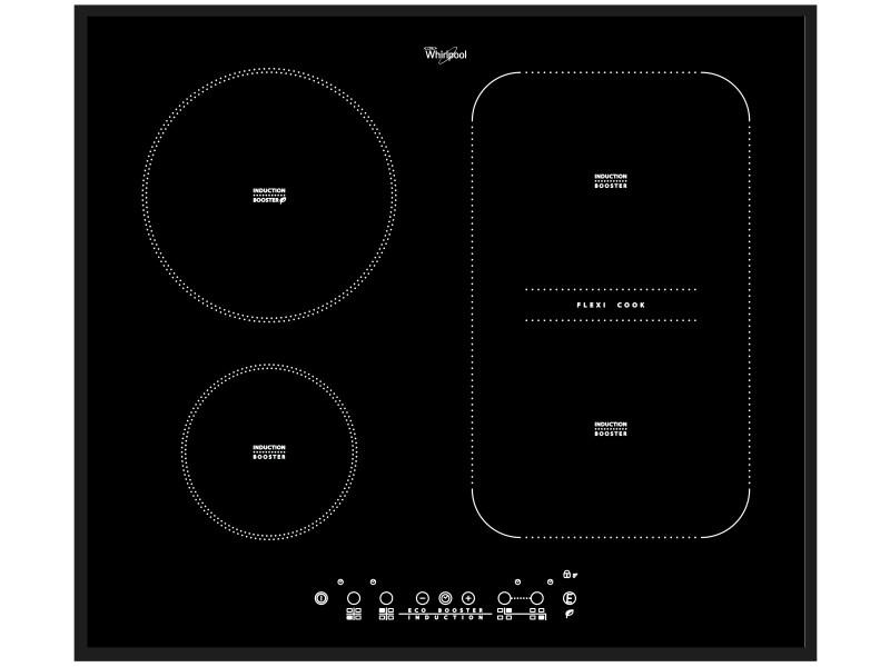 Whirlpool acm 808/ba plaque noir intégré (placement) plaque avec zone à induction 4 zone(s)